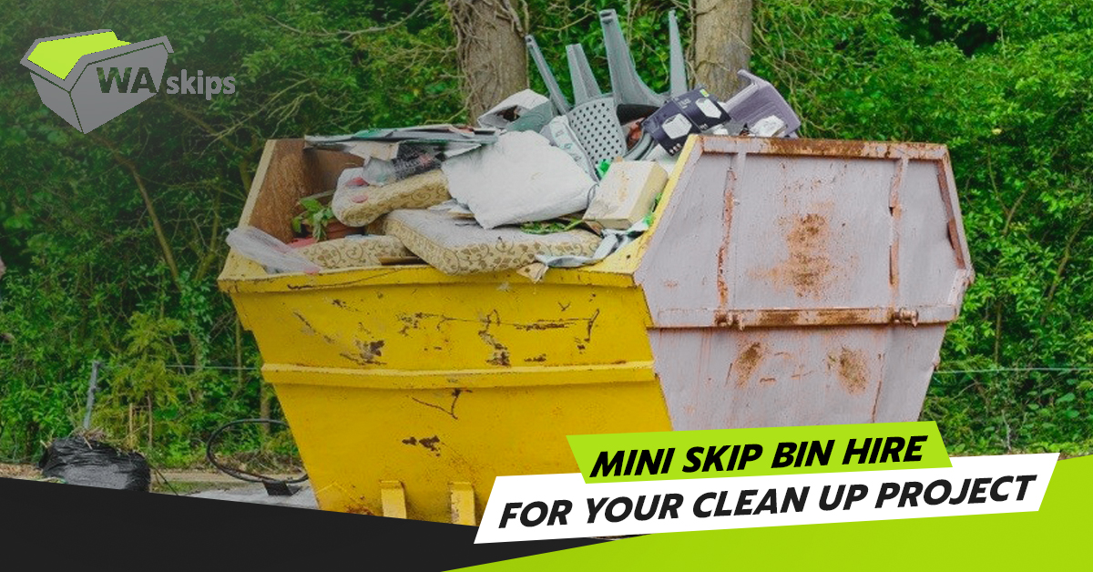 mini skip bin hire for your clean up project